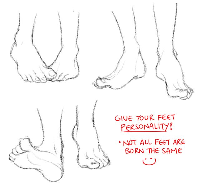 25  best ideas about feet drawing on pinterest