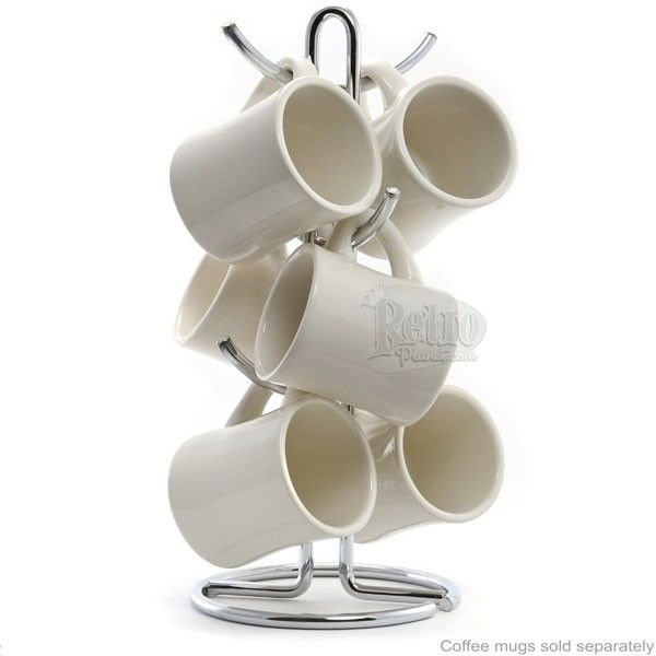 mug rack | Home » Modern Chrome Coffee Mug Rack