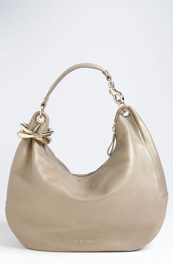 Dear Cupid....... please bring me this gorgeous bag! Love, Holly  Jimmy Choo 'Solar - Large' Pearlized Metallic Leather Hobo available at Nordstrom