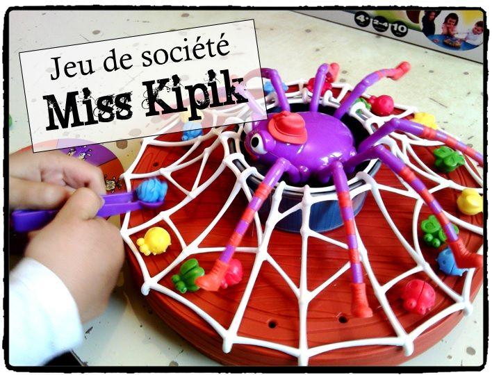 miss kipik jeu de société enfant, halloween, araignée