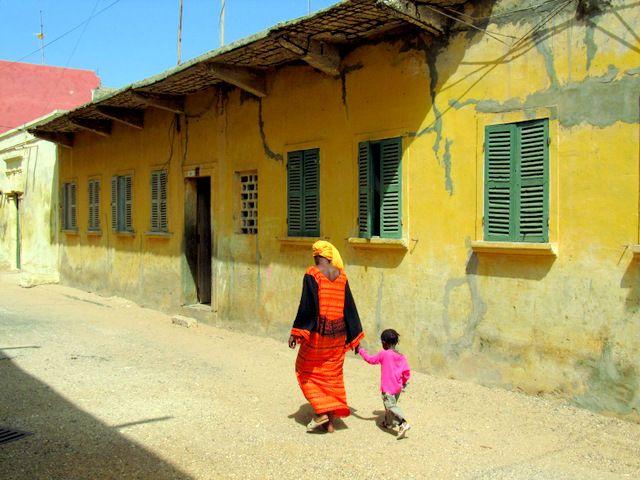 Street of Saint Louis, Sénégal.