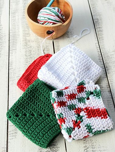 Ravelry: Christmas Granny Square Dishcloth pattern by Olives n Okra
