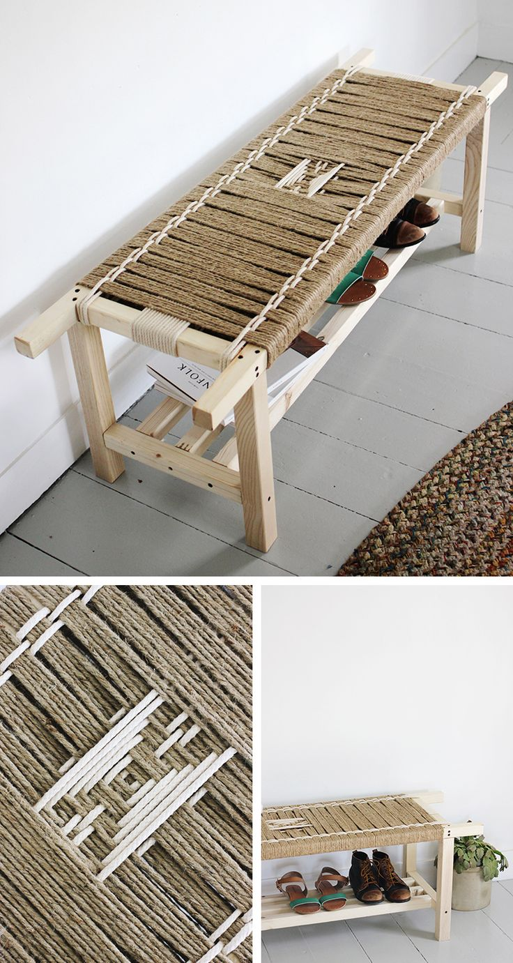 25 Unique Diy Woven Bench Ideas On Pinterest Old Coffee Tables Charpai And Bench