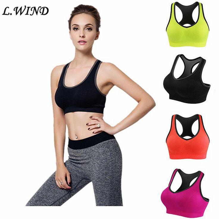 Femmes Soutien-Gorge de Sport Fitness Gym Courir Jogging Yoga Soutien-Gorge Rembourré Sous-Vêtements Respirant Débardeur S333