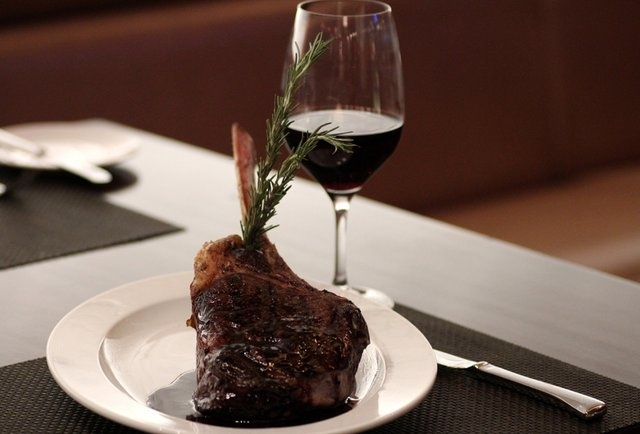 Steak at the new Wolfgang Puck STEAK at MGM Grand Detroit.