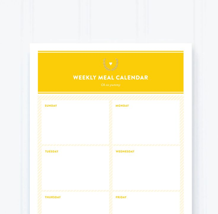 """Our new Simplified Notepads are bright and cheery with hints of gold foil. The Meal Plan Notepad is perfect for at-a-glance weekly meal planning and grocery list making. • Size: 5.5 x 8.5"""" • 50 sheets"""