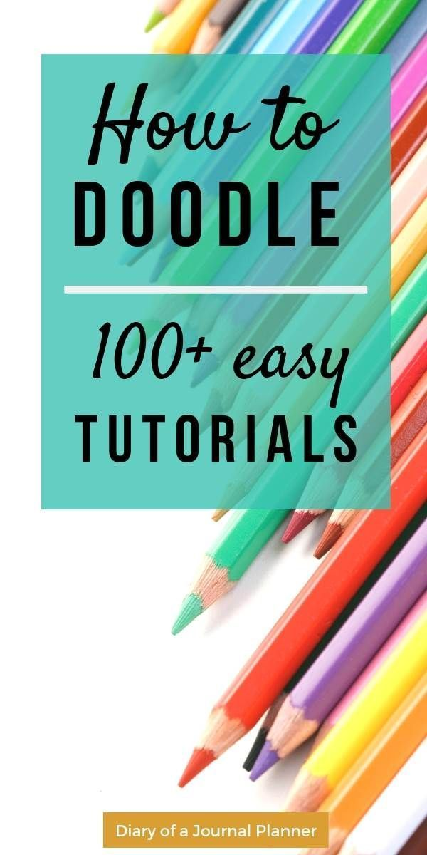 Ultimate List of Bullet Journal Doodles Lots of brilliant doodle ideas for bullet journals & doodle planner. If you are looking for how-to-draw tutori…