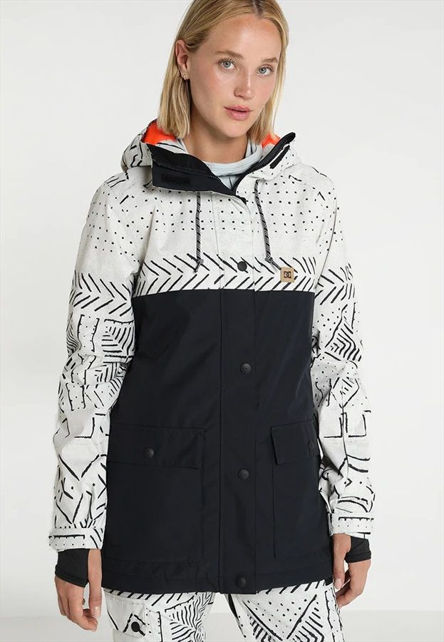 7fdd452f2159 DC Cruiser Women's Snowboard/Ski Jacket, M Silver Birch Mud Cloth ...