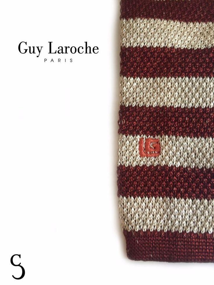 Guy Laroche Men Red n White Stylish Tie