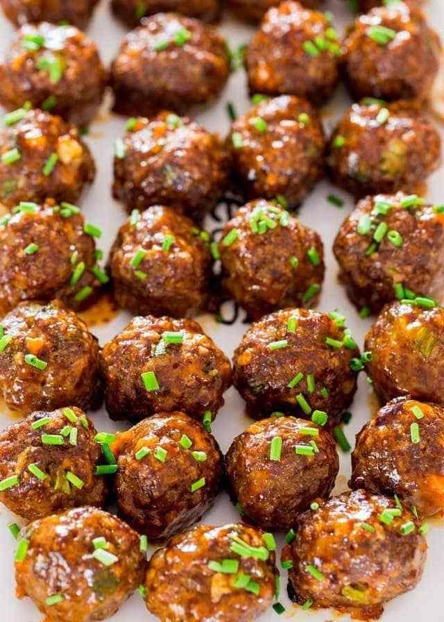 Korean BBQ Meatballs | Recipe | Korean bbq meatballs, Food