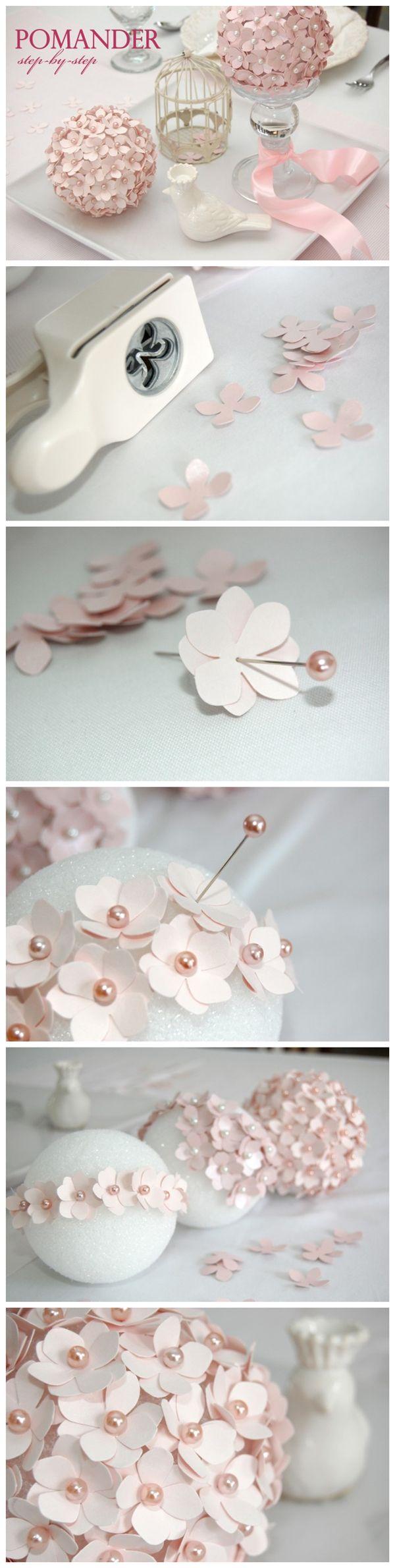 Make #Pomander #Flower Ball #Tutorial