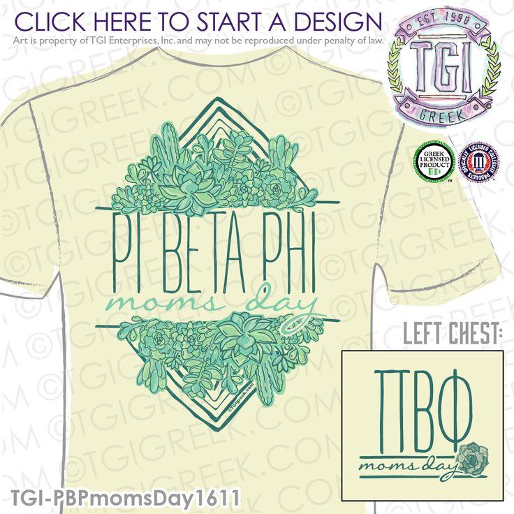 Pi Beta Phi | Pi Phi | ΠΒΦ | Moms Day | Sorority Moms Day Shirt | Mom's Day Tee | TGI Greek | Greek Apparel | Custom Apparel | Sorority Tee Shirts | Sorority T-shirts | Custom T-Shirts