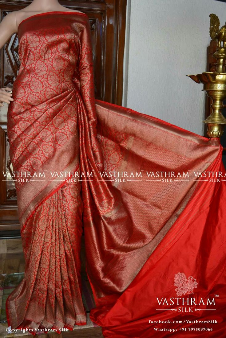 Banarasi silk  Cost: 12500 inr Whatsapp:  91 7019277192