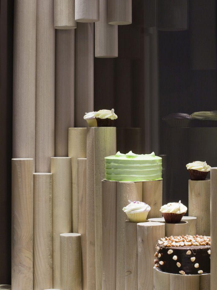 Дизайн кондитерской Twiggy в стиле органик