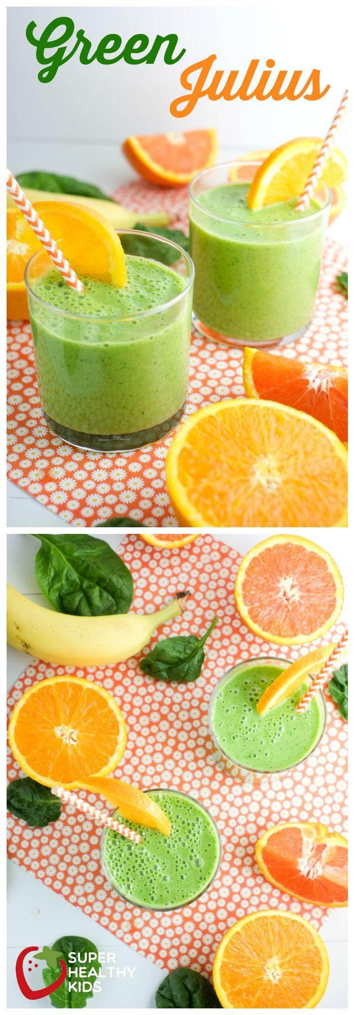 Green Julius: Healthy Orange Julius Recipe | Super Healthy Kids | Food and Drink