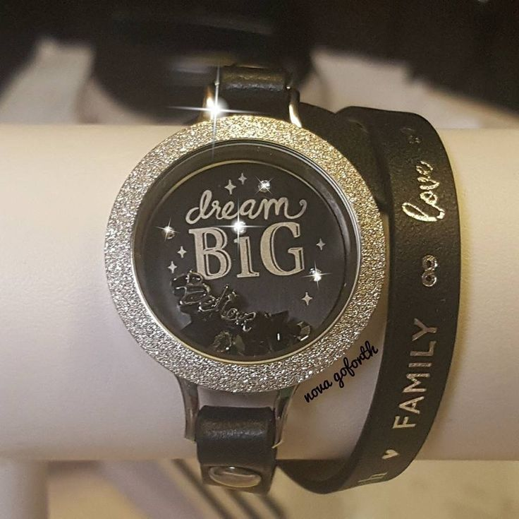 Dream big sparkle plate has Swarovski crystals in it. Large size plate for large locket. #sparkle #jewelry Available July 25th from Origami Owl!