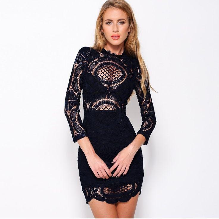 Sukienka koronkowa czarna koronkowa