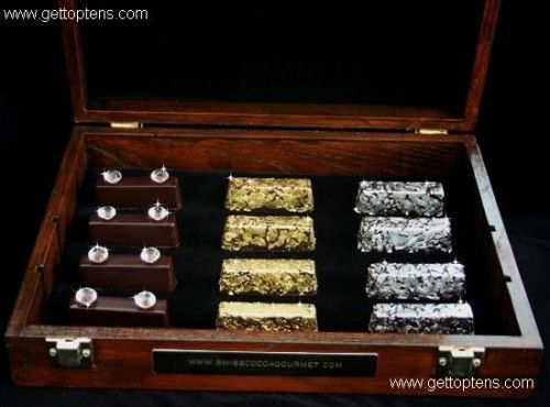 Gold and Diamond Chocolates ($1,250) most expensive chocolates