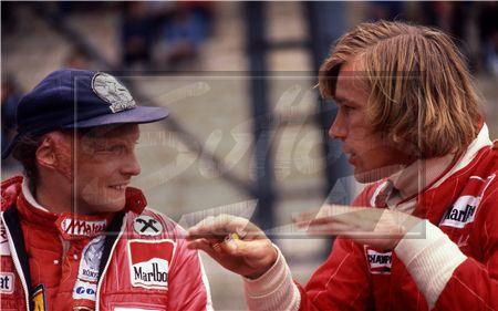 James Hunt and Nikki Lauda