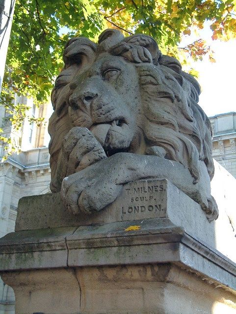One of the beautiful Saltaire lions!