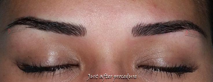 Master Class Permanent Make-Up : Hairstroke. Senior Trainer Diana Gulan, at Nouveau Contour ROMANIA