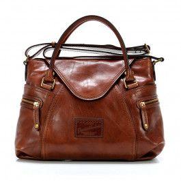 Icons Handbag smooth cowhide brown