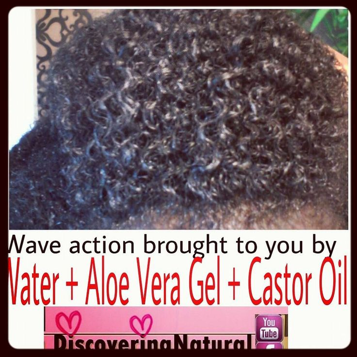 Natural Hair - waves curl definition using water, aloe vera gel, and castor oil…