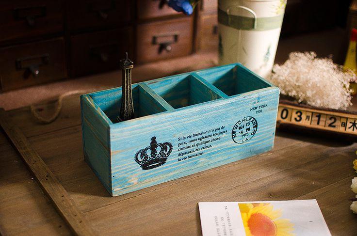 горячая продажа caixa organizadora zakka продуктовый деревянная коробка хранения коробки для кисть горшок корабли корабль аксессуары бесплатная доставка 552,68