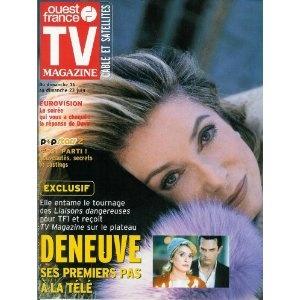 """Catherine Deneuve tourne """"Les Liaisons dangereuses"""" : Ses premiers pas à la télé, dans TV Magazine Ouest-France n°17531 du 14/06/2002 [couverture et article mis en vente par Presse-Mémoire]"""