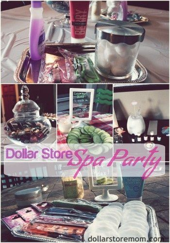 AWESOME idea! Great for a mommy get-together, teen or tween party, or just a couple friends... dollar store spa party moore-than-awesome