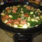 Kale Soup with Portuguese Sausage
