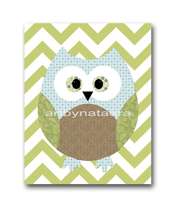 Owl Decor Owl Nursery Baby Boy Nursery Art Nursery by artbynataera, $14.00