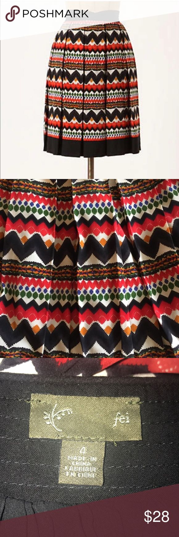 Anthropologie FEI Denpasar Tribal Print Skirt Sz 4 Anthropologie FEI Denpasar Tribal Print Skirt  Size 4 Has pockets Fully lined Excellent Condition! Thanks for looking💜 (1-24/0050) Anthropologie Skirts