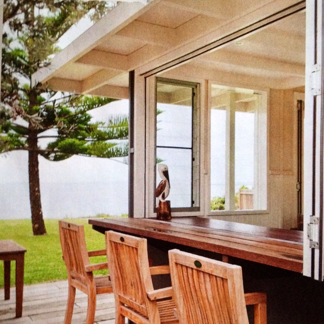 This would be fantastic to have, we love cooking and entertaining and would love and indoor/outdoor bench. Australian Home Beautiful magazine May 2012 - indoor outdoor bench window