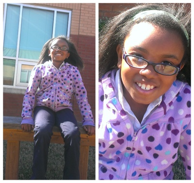 Khorin is a third grader in the Cardinal's Nest at Heritage Elementary  School and in her first year with WINGS' new Atlanta programs!