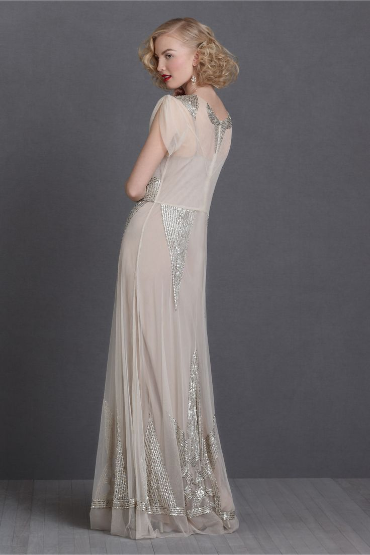 Art deco, 1930s inspired sequinned Aiguille Gown from BHLDN