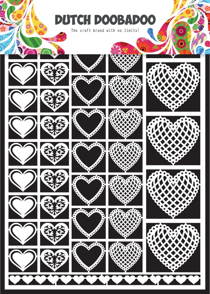 472.948.01 Nederlandse Paper Art Hartjes Formaat A5