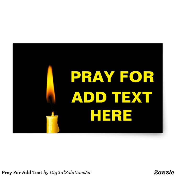 Pray For Add Text Rectangular Sticker