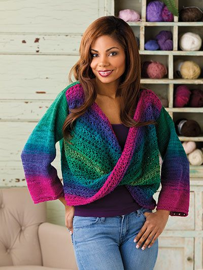 A New Twist Knitting Pattern Download from e-PatternsCentral.com -- This eye-catching piece is a delight for the eyes. For a change of pace, try this simple, drop-shoulder sweater with a twist.