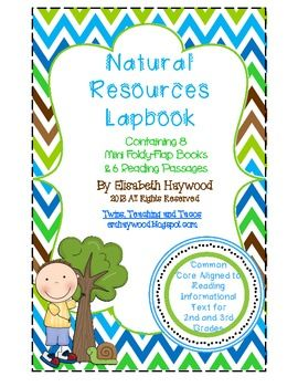 Are you looking for a different way of teaching the concept of Natural Resources?  Lapbooks with Mini-books are a fun way to teach while still addressing the Common Core State Standards!  My Natural Resources Lapbook gives you engaging ways to teach the Informational Reading standards.