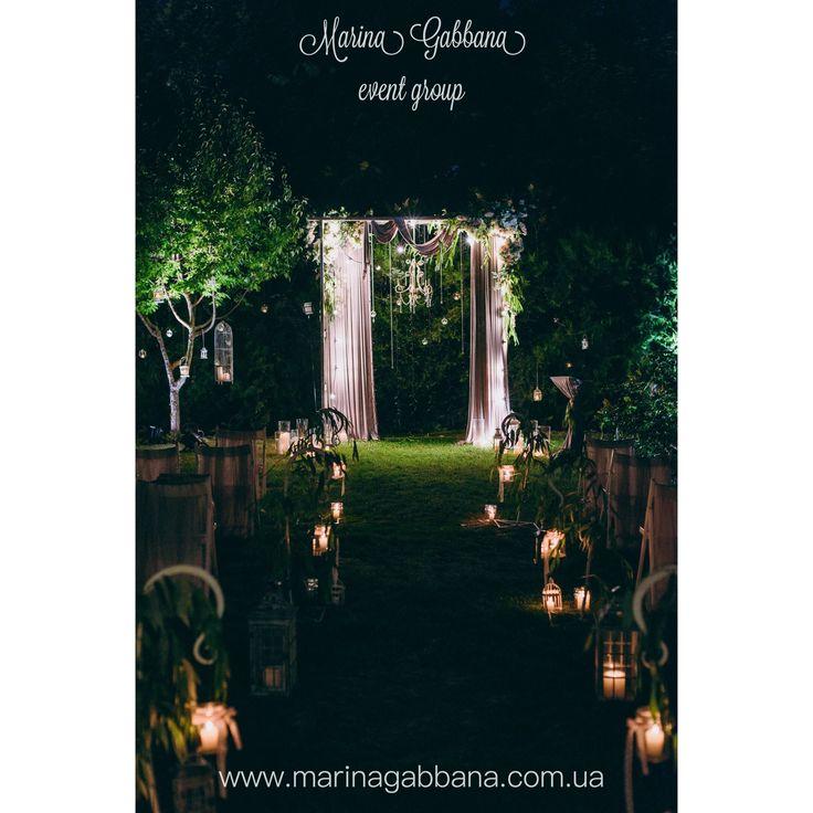 Night Wedding Ceremony Photo By Dmitriy Vasilenko Agency: Marina Gabbana  Event Group Ночная выездная церемония.