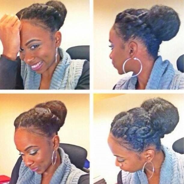 Yes, another cute protective style for natural hair