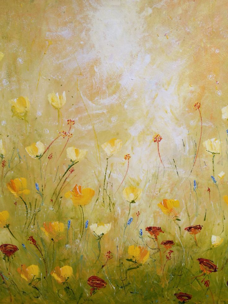 Corrine's Field of Dreams. Prophetic art painted live at DaySpring church 2015