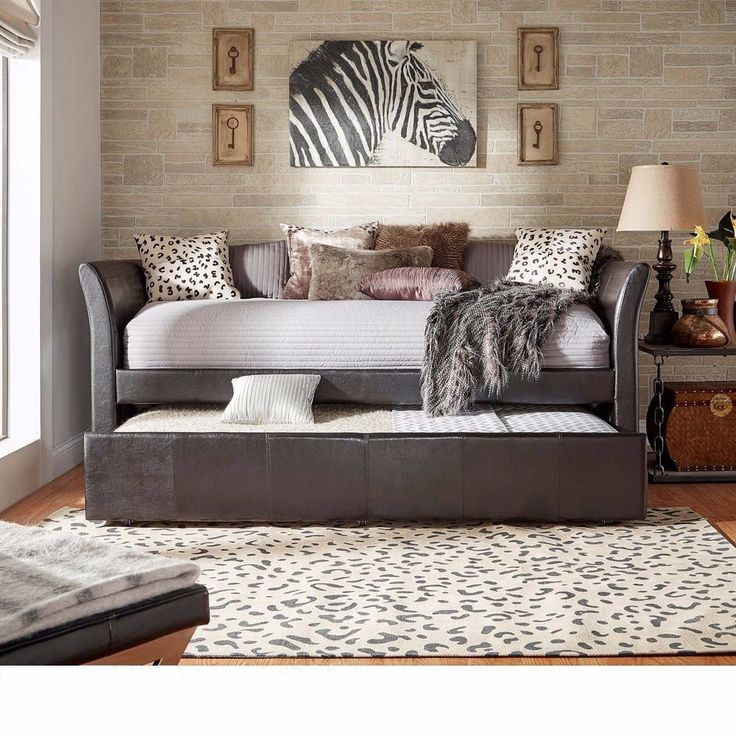 Daybed With Pop Up Trundle Adults Upholstered Sofa Bed