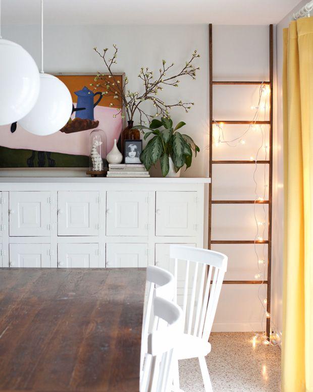 tipps zur verwendung einer schiefen leiter #decor #ladder #escada #styling   – Decoração