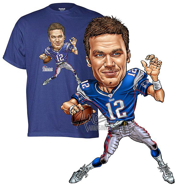 amosink.com - Adidas, Tom Brady Caricature