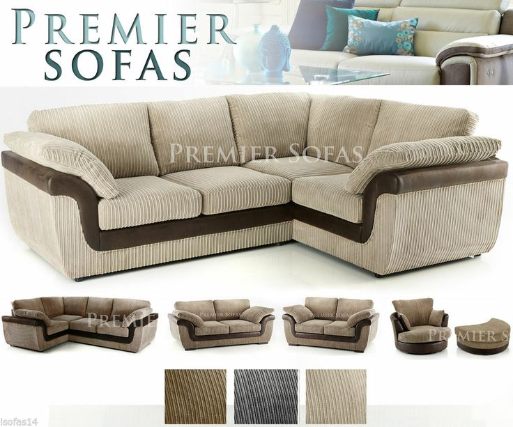 brand new eternal sofa left or right hand facing corner sofa in cream jumbo cord