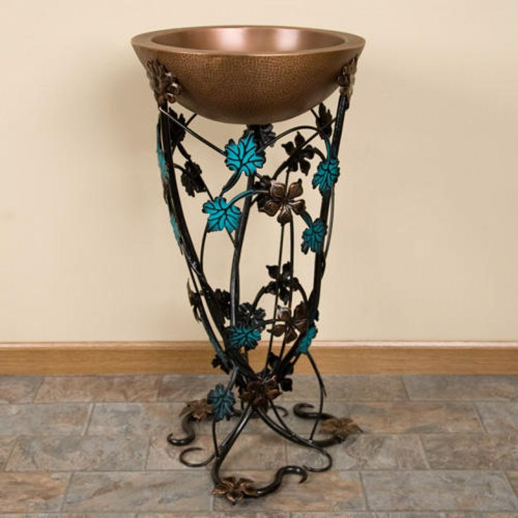 Flower Vine Wrought Iron Sink Stand - Bathroom