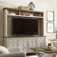 Moderne Muse TV Stand With Hutch