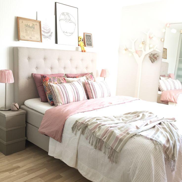Sovrum, säng, gavel, bedroom, bed, linen